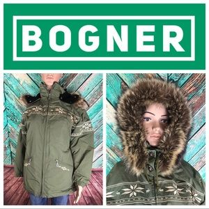Vintage Bogner Embroidered Fiberfill Ski Jacket